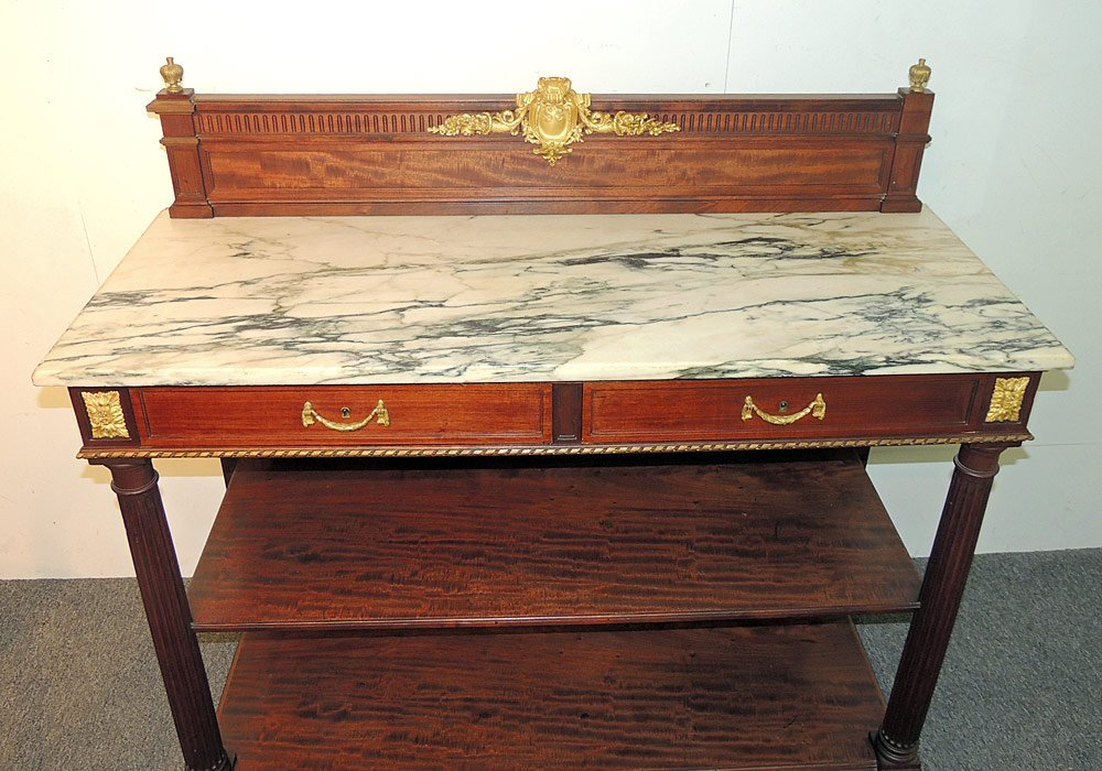 French Marble-top Server - 2