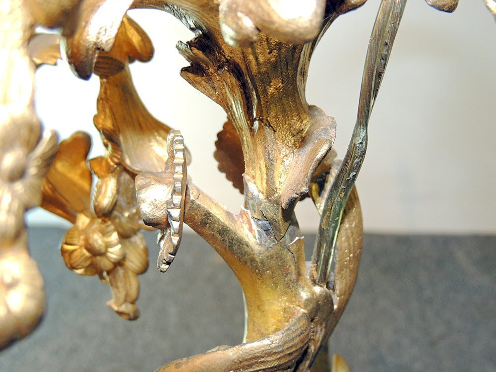 French Gilt and Patinated Bronze Candelabra Lamp - 3