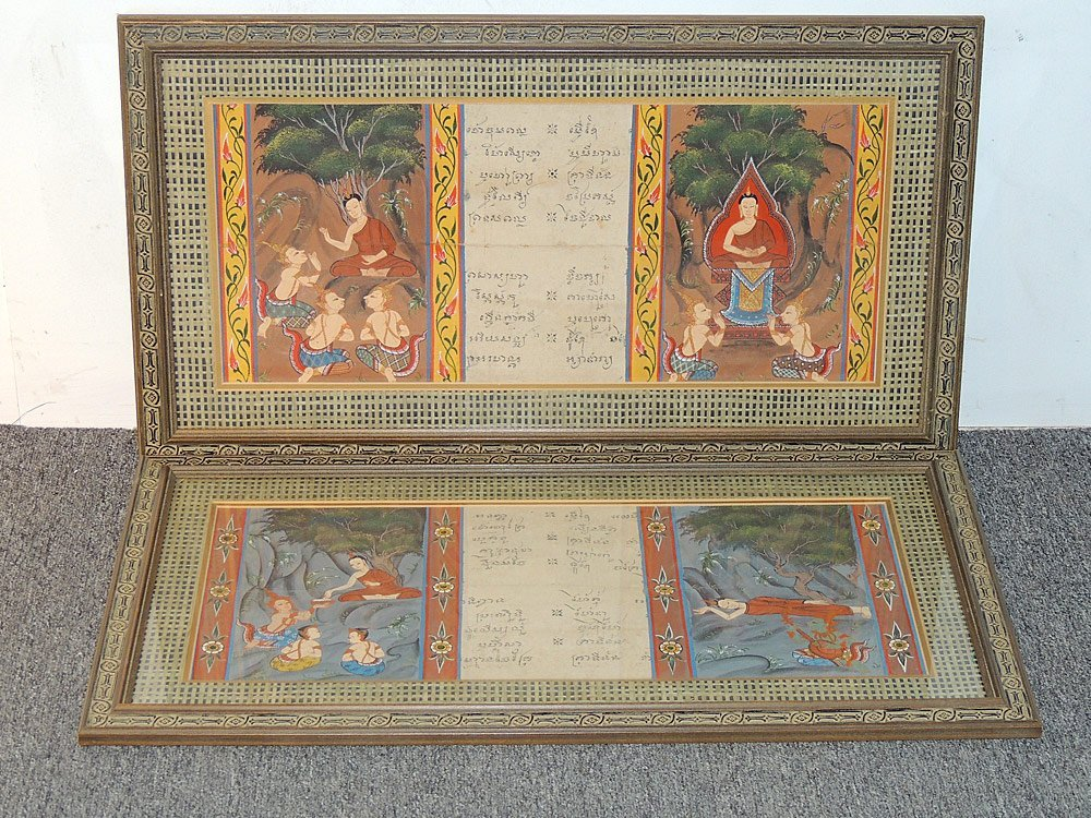 Two Tibetan Illuminated Sutra Panels - 2