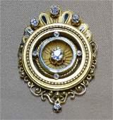 Diamond and enamel pinpendant