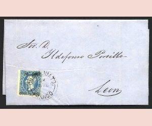 7: MEXICO, Mi #30 Emperor Maximilian 13 C. to LEON