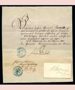 723: FRANCE, Laissez-Passer for Gen. A. E. BURNSIDE, US
