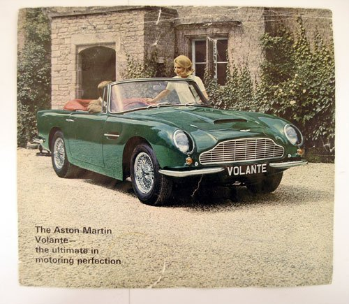 102: Aston Martin DB6 'Short Chassis Volante' Brochure