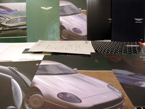104: Assorted Jaguar & Aston Martin Sales Brochures