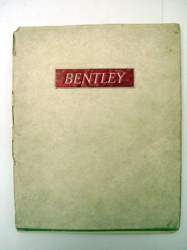 120: Bentley 4.25 Litre Sales Catalogue