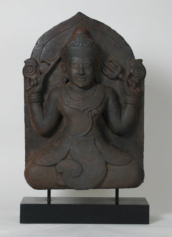 016: Big Cham Sandstone Sculpture Shiva 14th-15thC