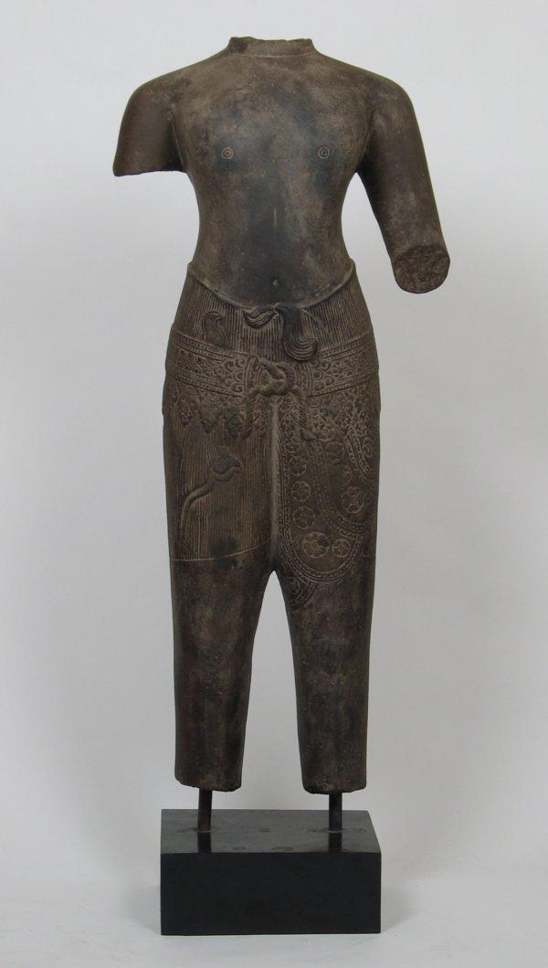 017: Life-Size Khmer Baphuon Sculpture Male, 10thC