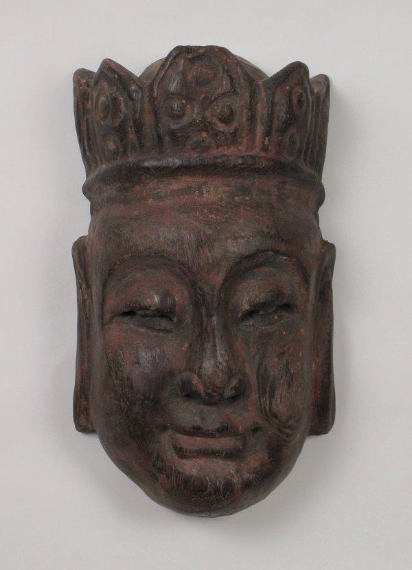 019: Japanese Wood Mask, Kamakura Period 1192-1336