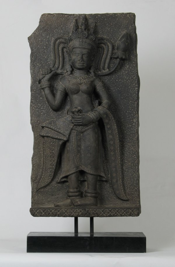 020: Big Khmer Sandstone Frieze Apsara 12C Angkor
