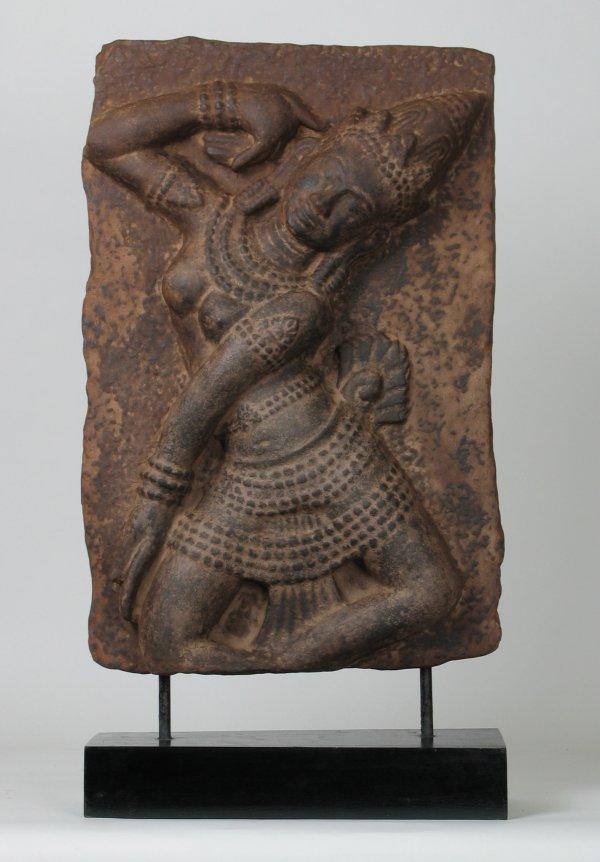 021: Big Cham Sandstone Frieze Apsara Dancer 10thC
