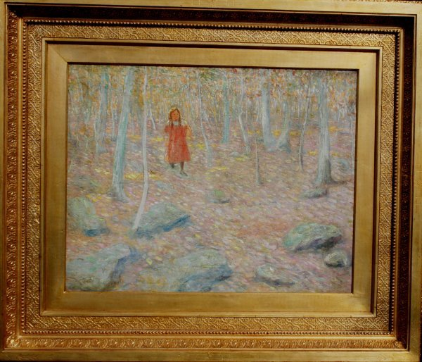 125: Large  Ernest Lawson American Oil Painting