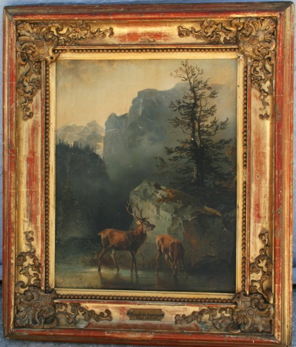 126: 19th C Oil Painting by Friedrich Gauermann