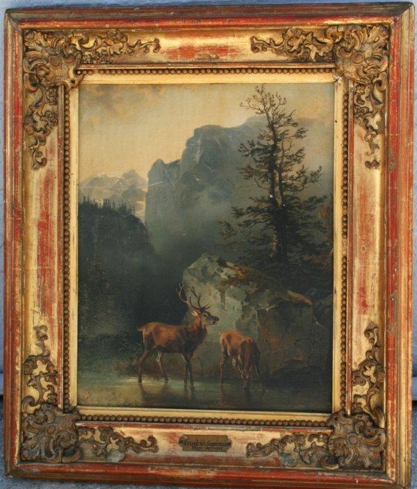 126: 19th C Oil Painting by Friedrich Gauermann