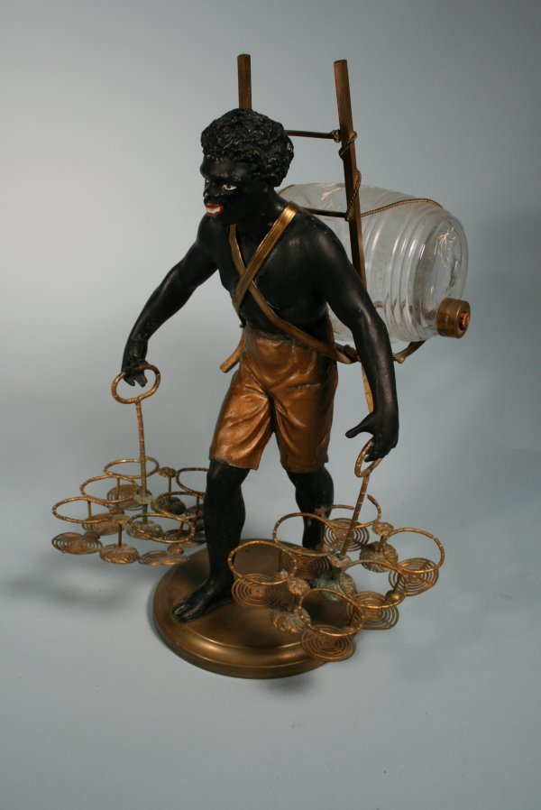 221: Blackamoor Figural Liquor Decanter