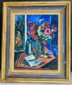 David Burliuk, Russian/NY, (1882-1967) Oil on Canvas