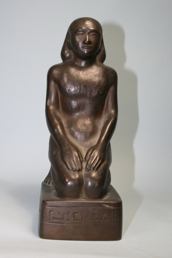 019: Signed Bronze Egyptian Figure