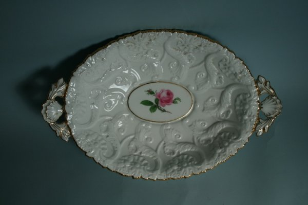 020: Meissen Ornate Double-Handled Serving Bowl