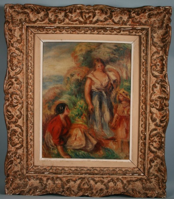 052: 19THC French Impressionist Oil On Canvas