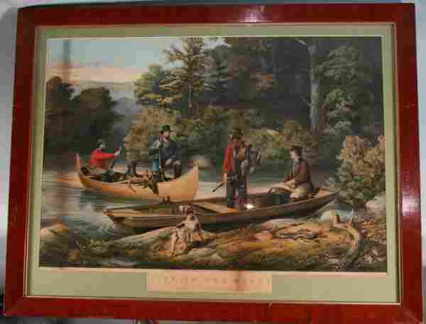 150: Currier & Ives Hand Colored Lithograph
