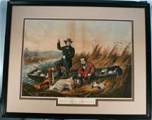 151: Currier & Ives Hand Colored Lithograph