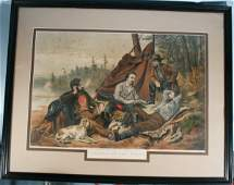 152: Currier & Ives Hand Colored Lithograph