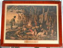153: Currier & Ives Hand Colored Lithograph