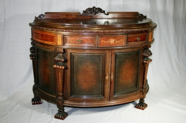 405: Victorian Demi Lune Chest With Inlay