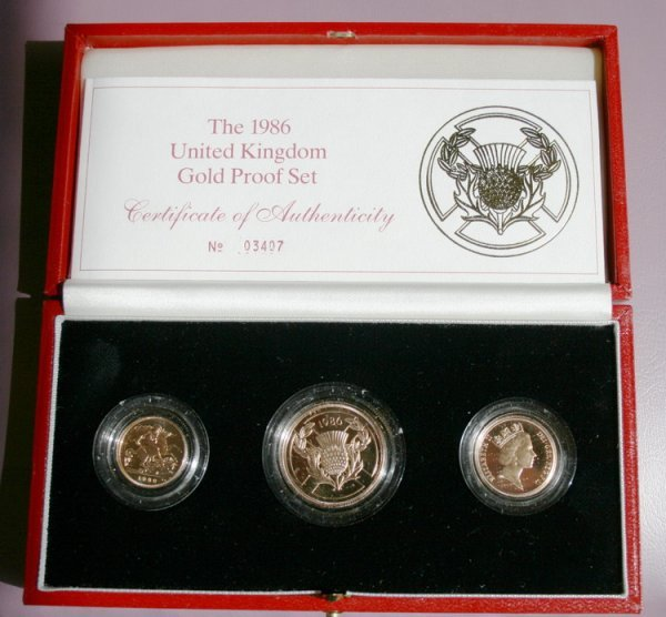 411: United Kingdom Gold Proof Set 1986