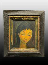 Angel Botello, Puerto Rico (1913-1986) Oil on Board