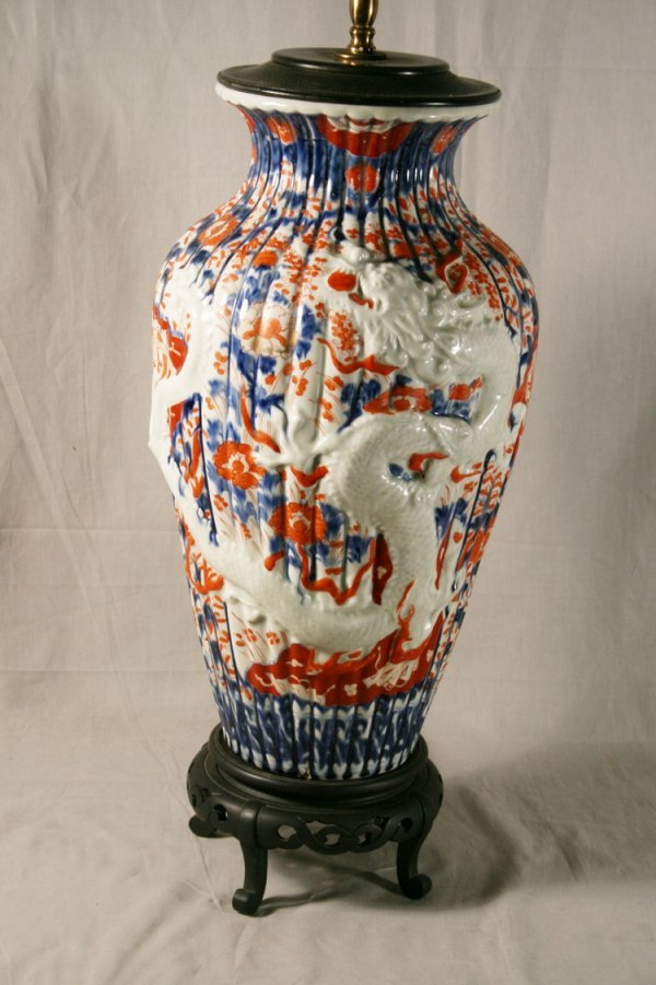 21: Monumental Blown Out Imari Vase
