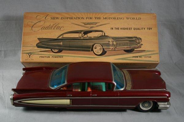 42: Tin Cadillac Toy Car 1960's In Box