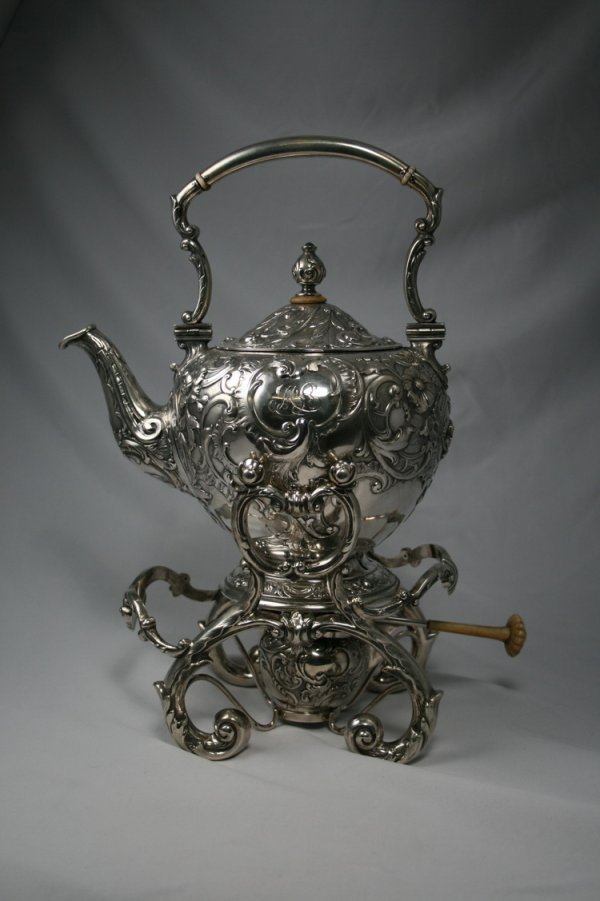 400: Austrian Silver Kettle On Stand