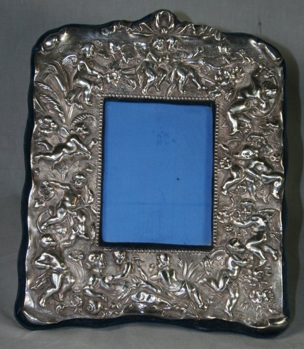 408: 19thC English Silver Picture Frame