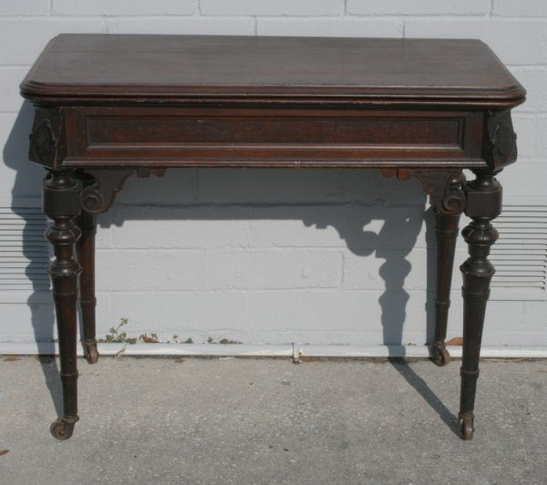 422: Victorian Walnut Game Table