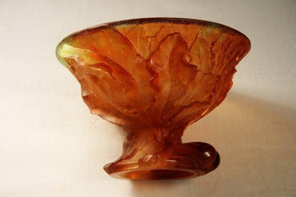 7A: Daum France Pate de Verre Small Vase