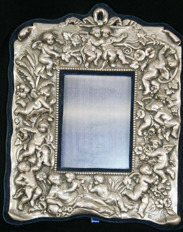 10: 19th c English Silver Picture Frame