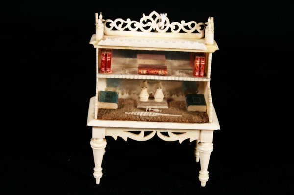 13: Miniature Continental Ivory Writing Desk