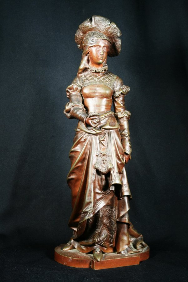 14: 19thc Patinated Bronze Sculpture by Eutrope Bouret