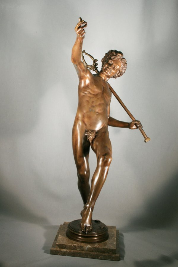22: Hippolyte Moulin Bronze Signed With Foundry Mark