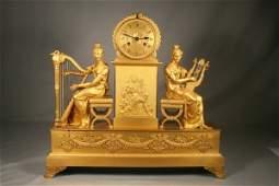34: An Empire Gilt-Bronze Mantle Clock, Circa 1810