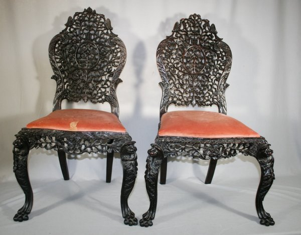 401: Pair of Chinese Export Chairs