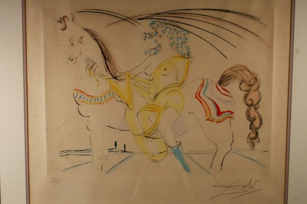 "407: Salvador Dali Hand Colored Lithograph, 15 ½"" x 20"