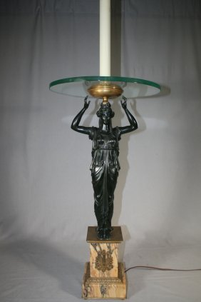 French Empire Bronze Candelabrum