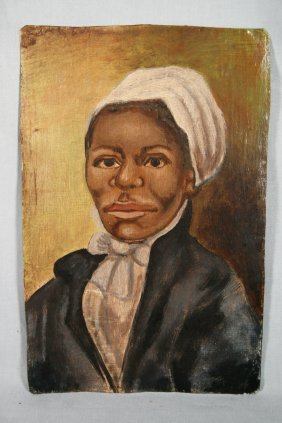 Americana Folk Art Self Portrait Harriet Tubman