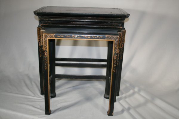 461: Set Of Three Asian Nesting Tables