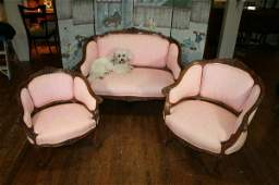 478 Louis XV Style Carved Wood Parlor Group