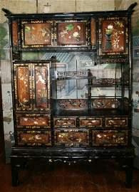 498: Japanese Ivory Hardstone Cabinet