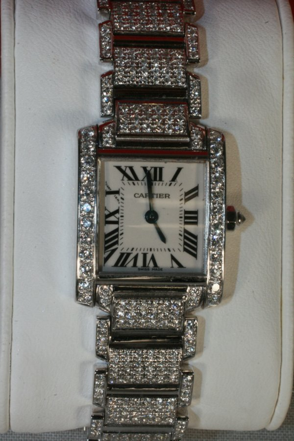 515: Cartier 18K Diamond Ladies Watch