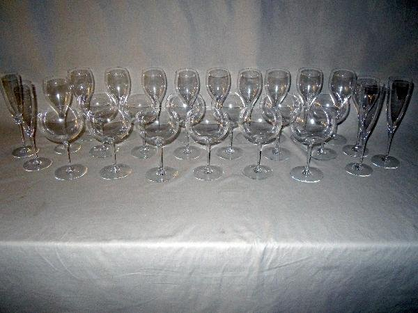 8: Baccarat Crystal Stems