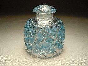 """9: R. Lalique Perfume Bottle, """"Epines"""""""